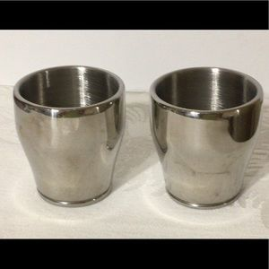 🦋New Listing🦋Two stainless steel espresso cups